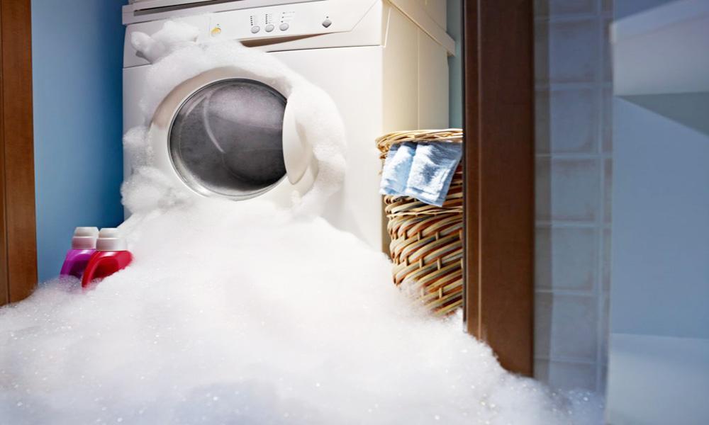 درست تخلیه نشدن آب ماشین لباسشویی
