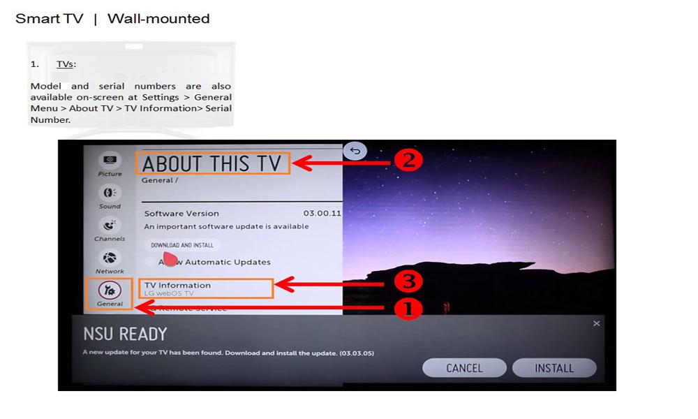 چک کردن کد تلویزیون ال جی در سایت رسمی الجی