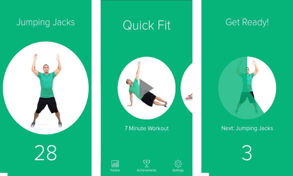 تصویر تمرین های ورزشی با استفاده از اپلیکیشن لاغری