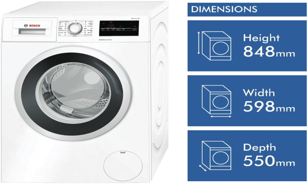 تصویر ماشینهای لباسشویی درب از جلو بوش سری 4لباسشویی برند بوش WAN22120AU