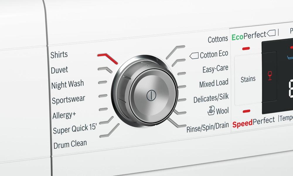برنامه های ماشین لباسشویی بوش سری 8