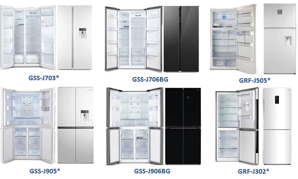 مدل های مختلف یخچال های جی پلاس