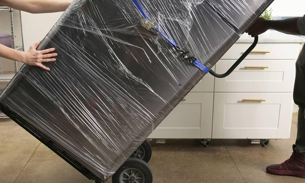 حمل یخچال با چرخ دستی
