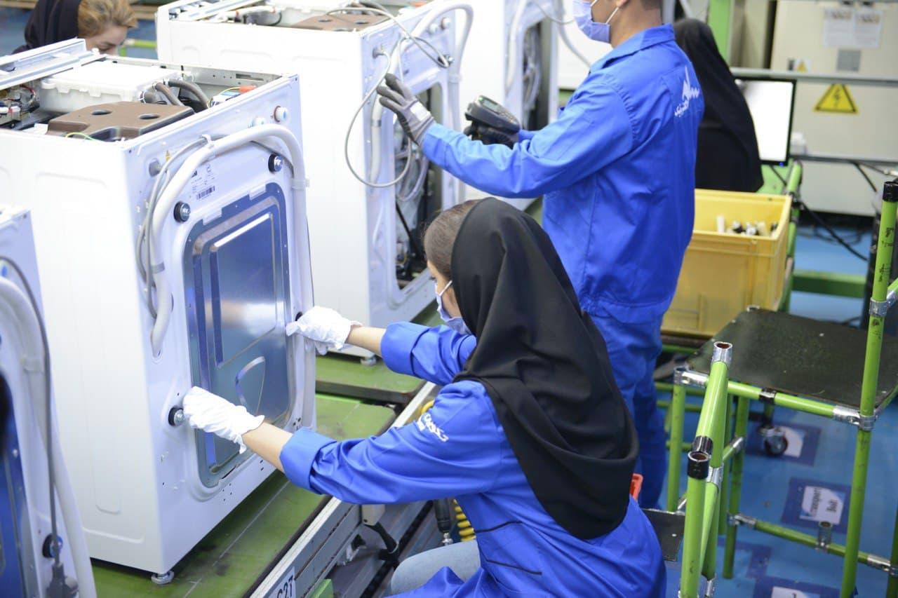 خط تولید ماشین لباسشویی سام الکترونیک افتتاح شد