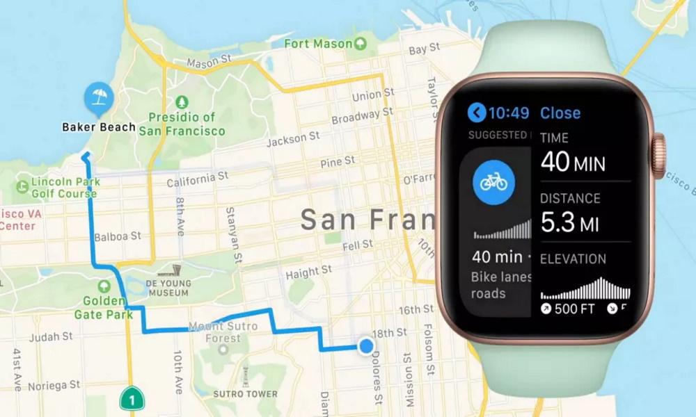 نقشه و امکانات مربوط به دوچرخه سواری + ساعت های هوشمند اپل+سیستمعامل Watch OS