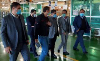 بازدید معاون امور صنایع وزارت صمت از کارخانه کاسپین گلدیران