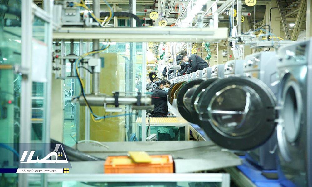 راهاندازی خط تولید داکت اسپیلت و رونمایی از میز ساخت داخل ماشین لباسشویی جی پلاس