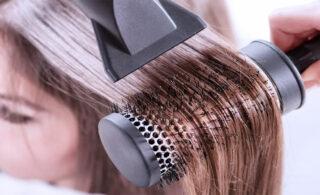 طرز استفاده از سشوار چرخشی بابلیس برای مو