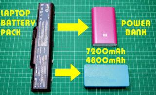 آموزش ساخت پاوربانک با باتری لپ تاپ در خانه